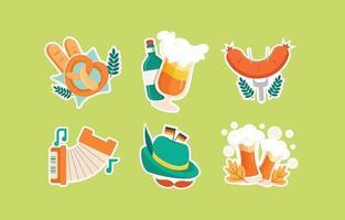 Oktoberfest Sticker Set vector