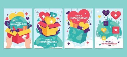 dia mundial humanitario vector
