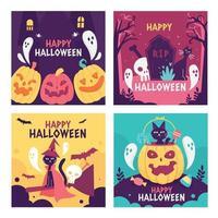Happy Halloween Social Media vector