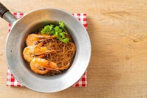 Casseroled or Baked Shrimp with Glass Noodles photo
