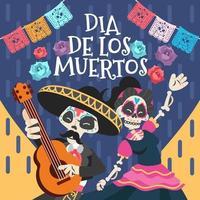 Dia De Los Muertos Couple Celebration vector