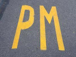 primer ministro pm estacionamiento foto