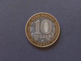 moneda de rublo, rusia foto