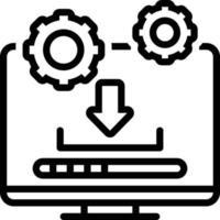 icono de línea para actualización del sistema vector