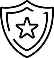 Line icon for shield vector