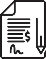Line icon for contract vector