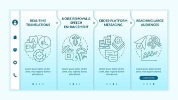 IM advanced feature onboarding vector template
