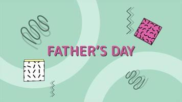 Animation Father Day and motion abstract geometric cubes and zigzag video
