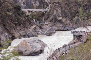 Tiger leaping gorge in Lijiang city, Yunnan Province, China photo