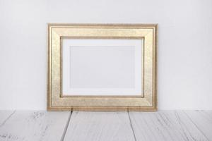 Stock photography golden picture frame mock up for text message photo