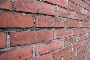 fondo rojo vintage antiguo ladrillo muro de hormigón foto