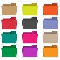 establecer colección carpeta icono vector color 5