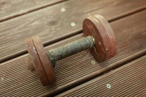 Old steel dumbbell photo