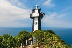 Keelung Island Lighthouse at the peak of keelung islet, taiwan photo