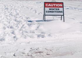 Caution Winter Conditions photo