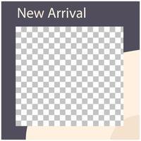 new arrival advertising social media template design vector