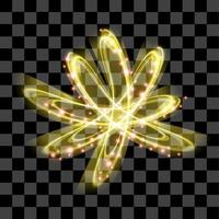 Yellow abstract special effect isolated vector line art glow shiny