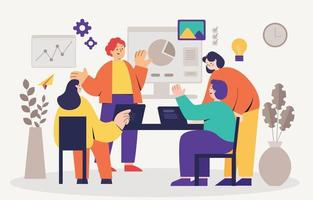 Professional Business Collaboration vector