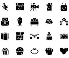 Wedding icon solid style vector for your web, mobile app logo