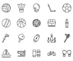sport icon set element vector