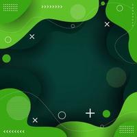 Beauty Green Liquid Background vector
