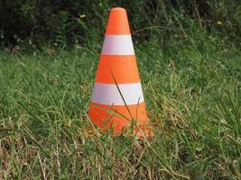 Traffic cone sign photo