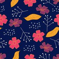 Cute floral prints for kids. Seamless pattern of flowers vector