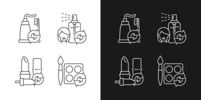Refill and reuse linear icons set for dark and light mode vector