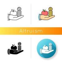 icono de vector de altruismo