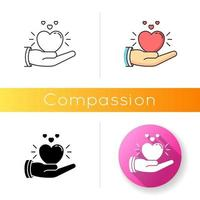 icono de vector de compasión