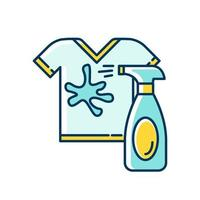 Stain removal blue and yellow RGB color icon vector