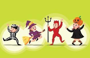 Halloween Trick or Treat Characters vector