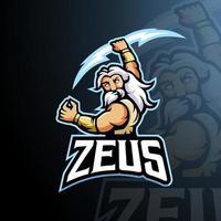 vector de diseño de logotipo de mascota zeus con ilustración moderna