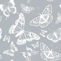 Vector butterflies pattern. Abstract seamless background.