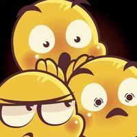 emoji caras expresión triste humor sorpresa asustado dibujos animados vector