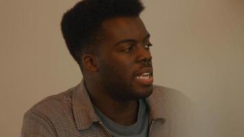 Man talks vividly video