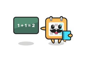 Illustration of calendar character as a teacher vector