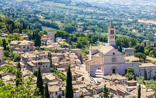 Assisi village in Umbria region, Italy. photo