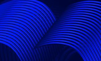 Abstract 3D with curved lines in the shape of a dark blue roof vector