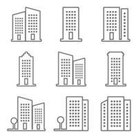 vector icono de edificio