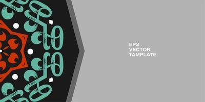 diseño de mandala vectorial, para sus diversos tipos de necesidades publicitarias vector