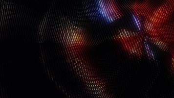 3D  digital art glow multicolored dots wave pattern background video