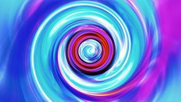 tunnel a spirale dello spazio del vortice dell'onda di energia colorata astratta video