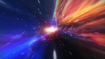Colorful hyperspace tunnel through space time video