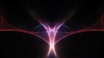 röd blå trådnät med mittflare ljus utrymme bakgrund video