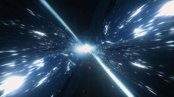 4K 3D glow blue mystery flare plasma energy tunnel video