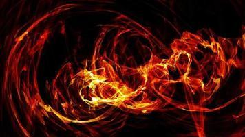 anneau de feu étincelant tunnel d'énergie vortex flux d'énergie video