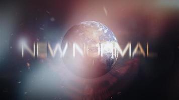 animación nuevo bucle de título de tráiler cinematográfico normal video