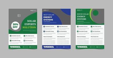 paquete de plantillas de diseño de volante de energía solar vector