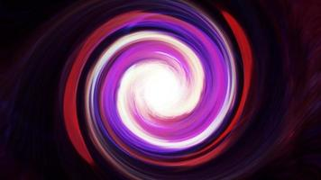 Remolino multicolor psicodélico hipnótico abstracción giratoria video